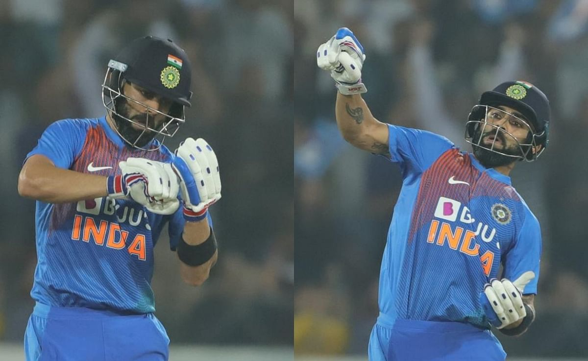 Virat Kohli signs gloves to tease Windies bowler Kessrick Williams