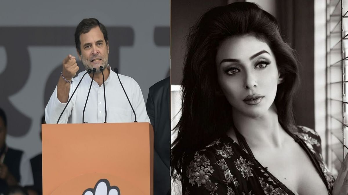 Rahul Gandhi and Ria D'souza