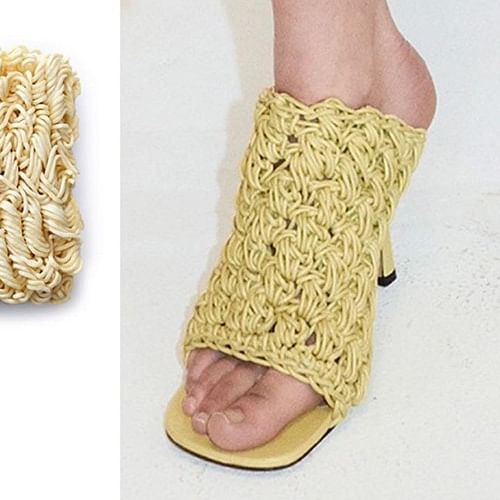 Would you wear these 'noodle shoes' in public?