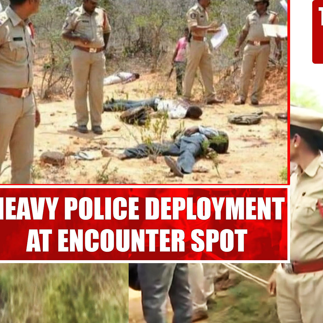 Hyderabad rape-murder accused killed: Heavy police deployment at encounter spot