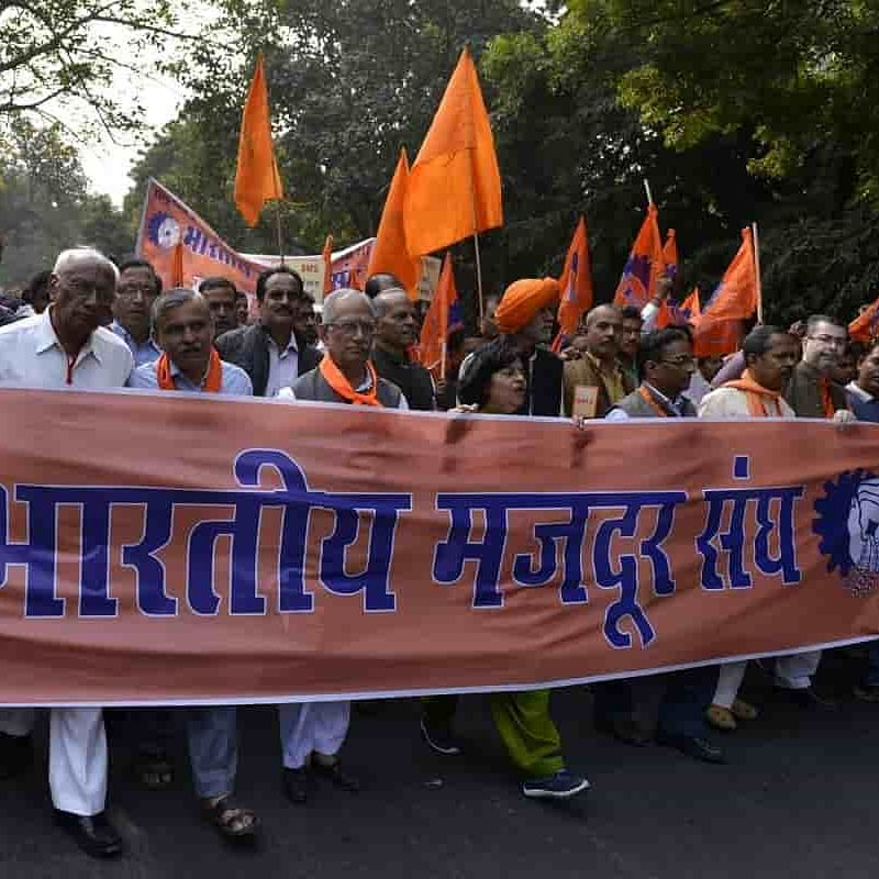 RSS affiliate challenges labour policies; BMS call for Bandh on Friday