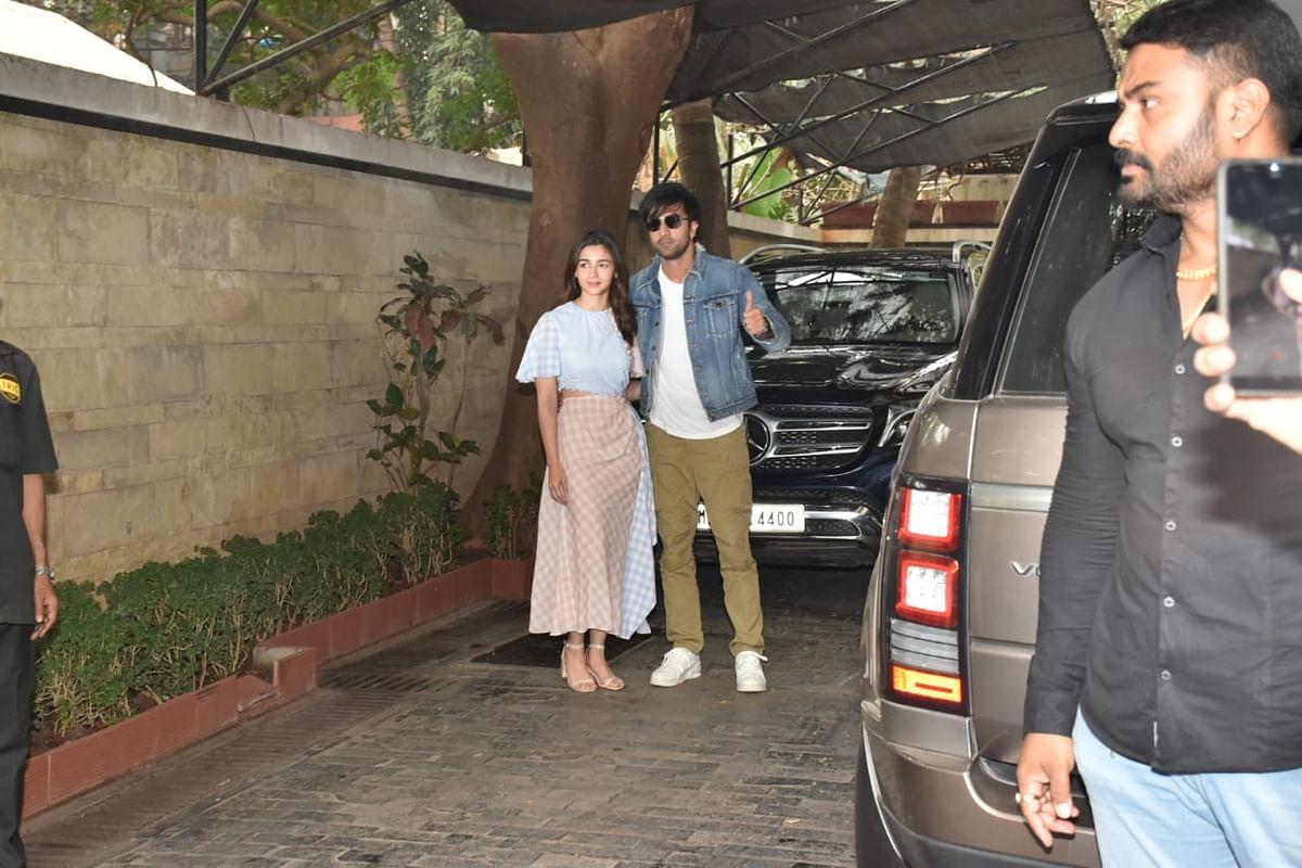 Ranbir Kapoor and Alia Bhatt at Kapoor Christmas brunch