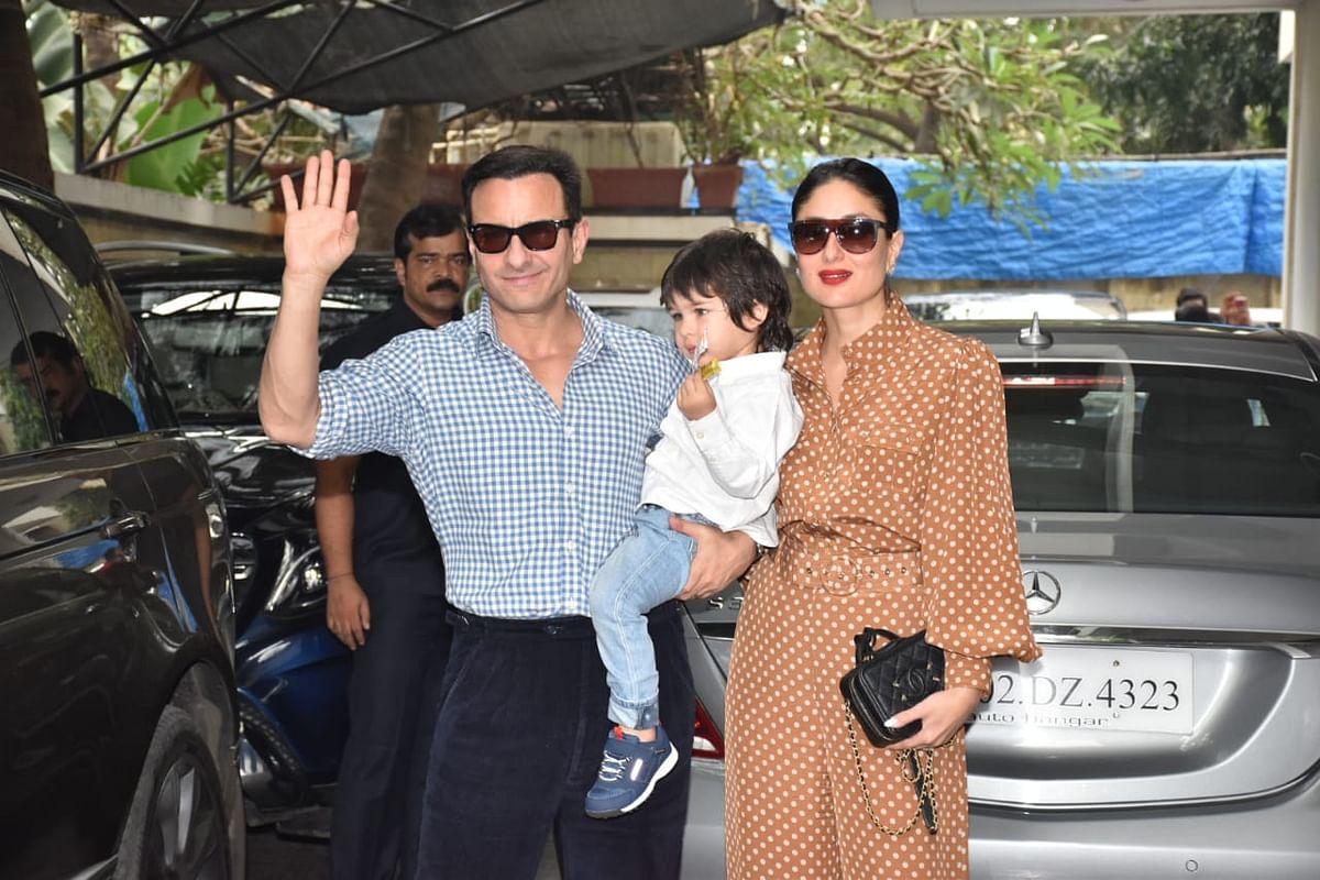 Saif, Kareena, Taimur at the family brunch