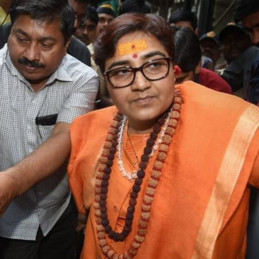 'Terrorist go back': NSUI workers heckle Pragya Thakur at University in Bhopal