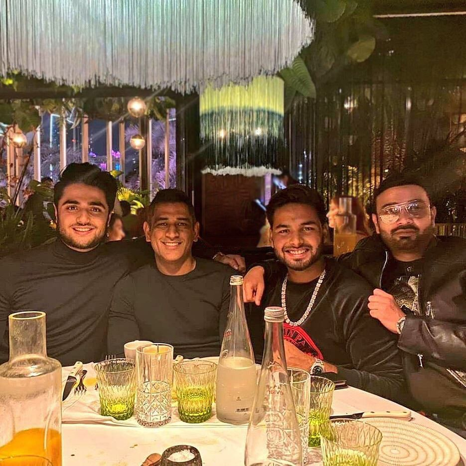 Watch: MS Dhoni and Rishabh Pant celebrate Christmas in style in Dubai