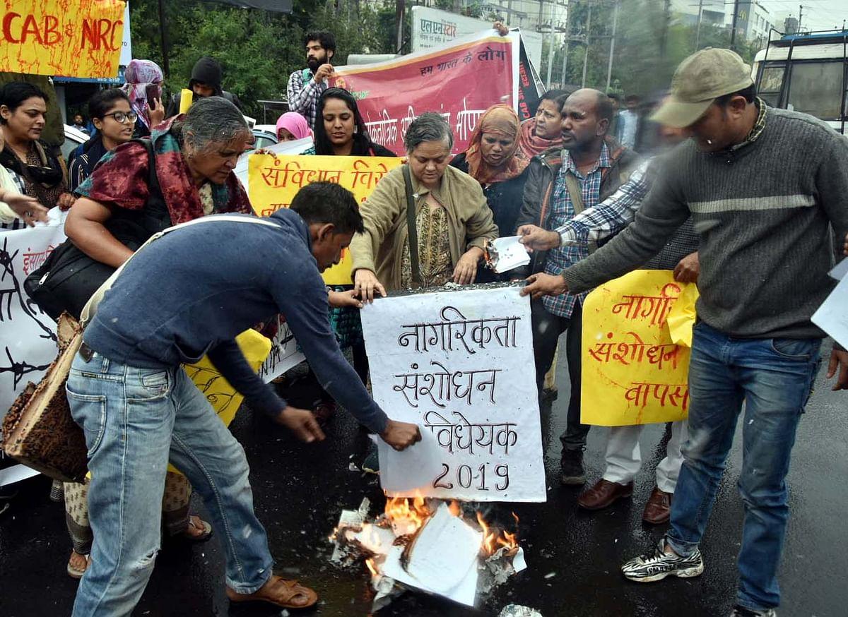#BoycottCAB: Irked naysayers burn copies of CAB in Bhopal