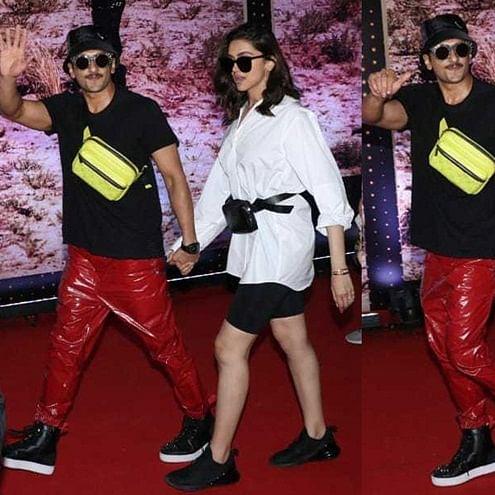 Ranveer Singh's red latex pants are blinding Deepika Padukone at U2 band concert