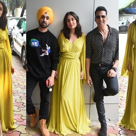 Kareena Kapoor Khan's lime green dress is perfect for a Christmas brunch