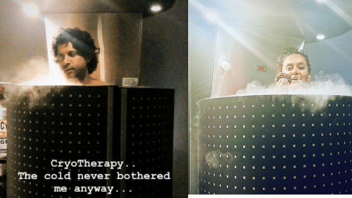Too cool to handle: Farhan Akhtar, Shibani Dandekar undergo freezing 'cryotherapy' treatment