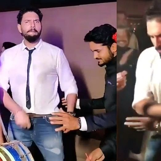 Watch video: Yuvraj Singh dances to 'Suit Suit Karda' at Manish Pandey's wedding reception