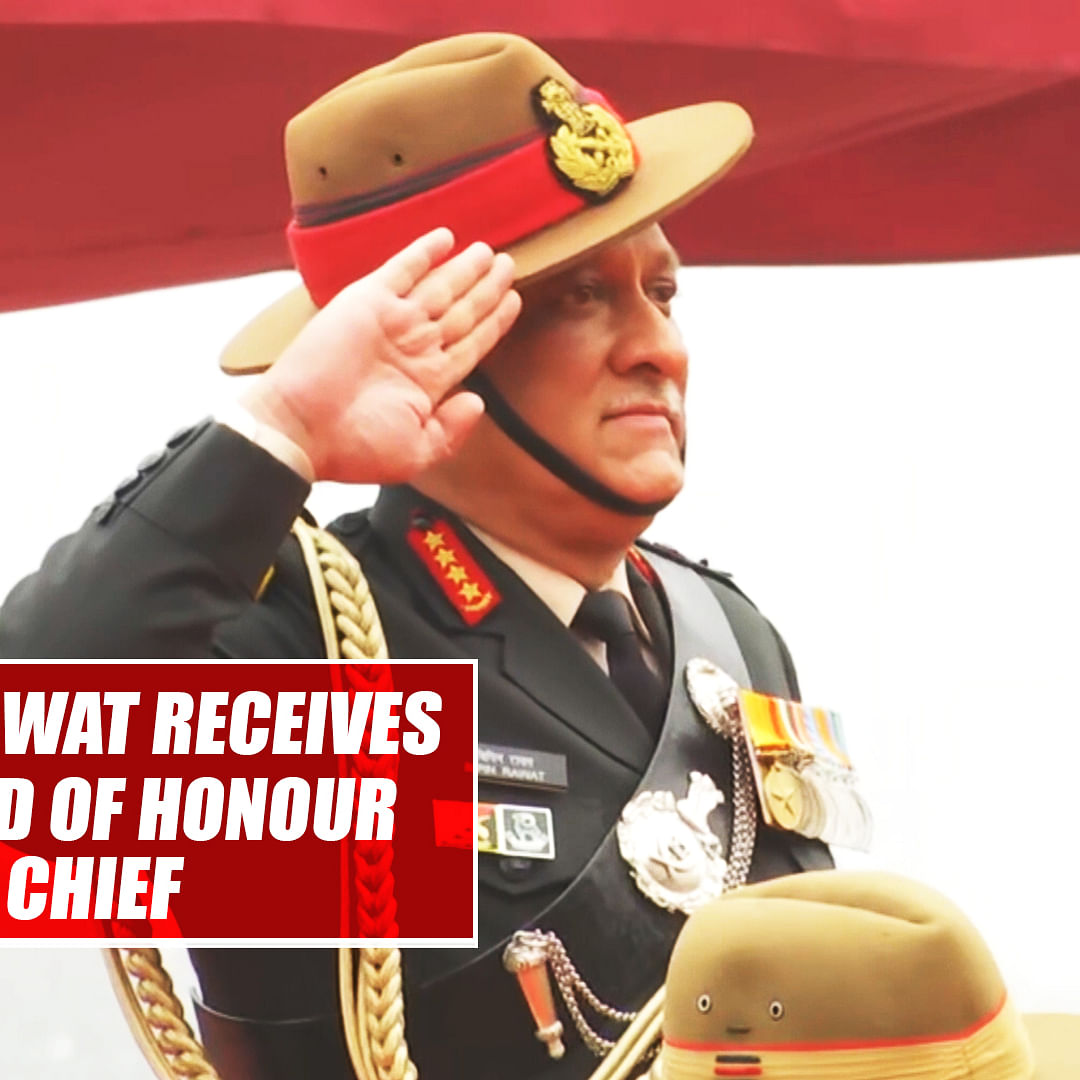 General Bipin Rawat receives farewell Guard of Honour as Army Chief
