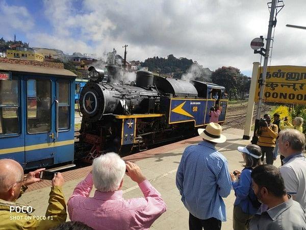 Tamil Nadu: To boost train tourism over Nilgiri mountain, 71 foreigners enjoy special ride