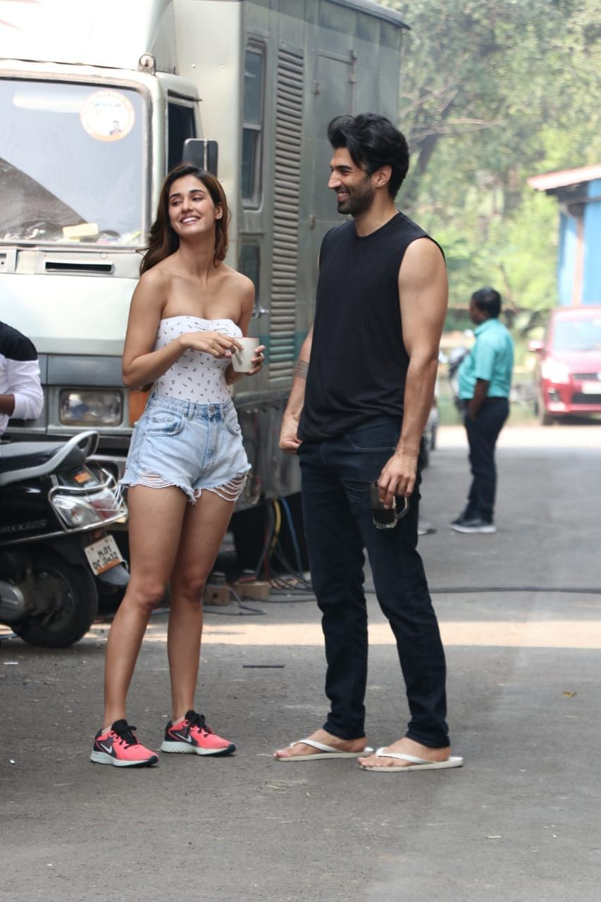 Disha Patani and Aditya Roy Kapur at the sets of Malang