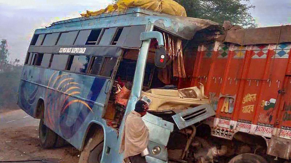 Bhopal: 9 killed, 25 hurt as bus rams truck
