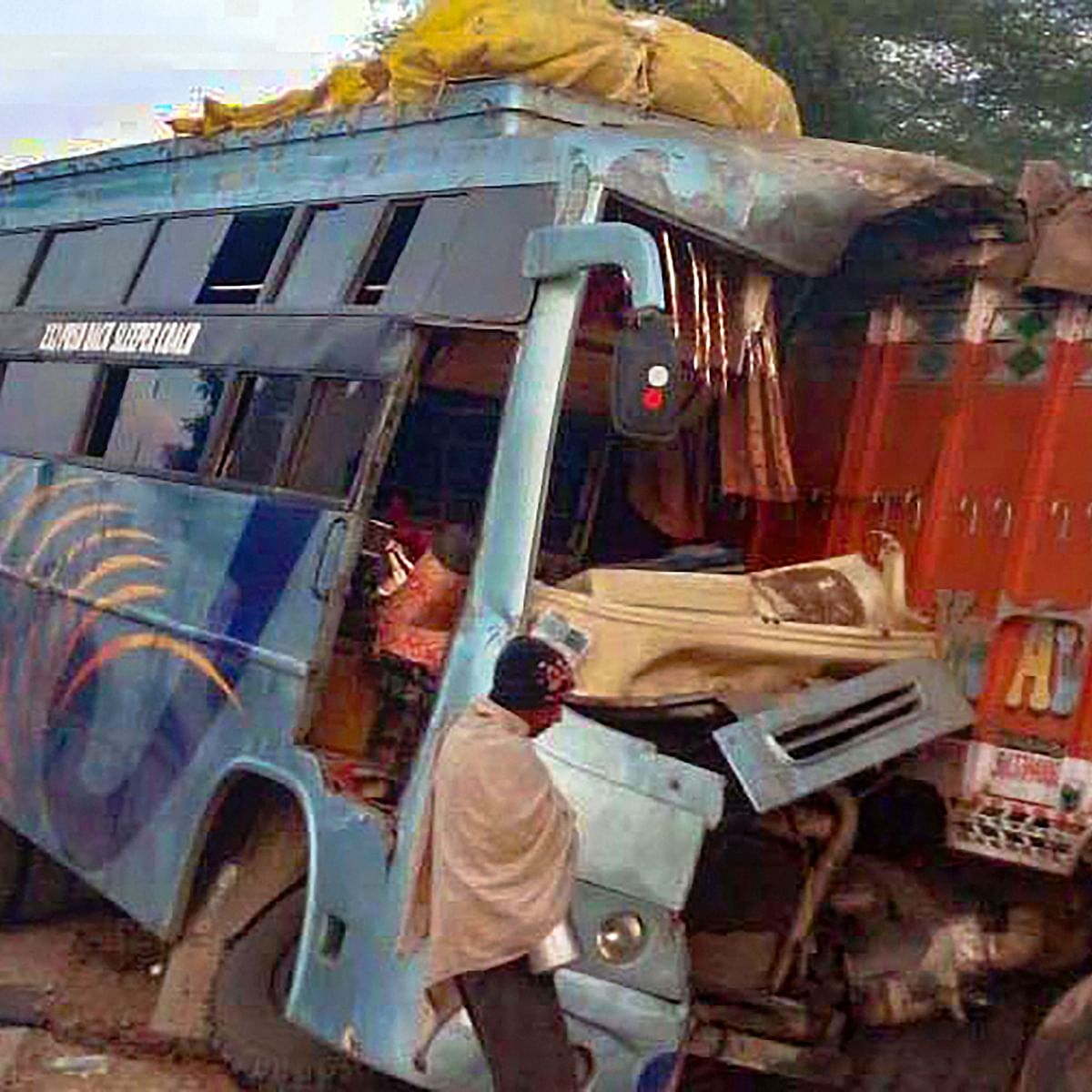 Bhopal: 9 killed, 25 hurt as bus rams truck