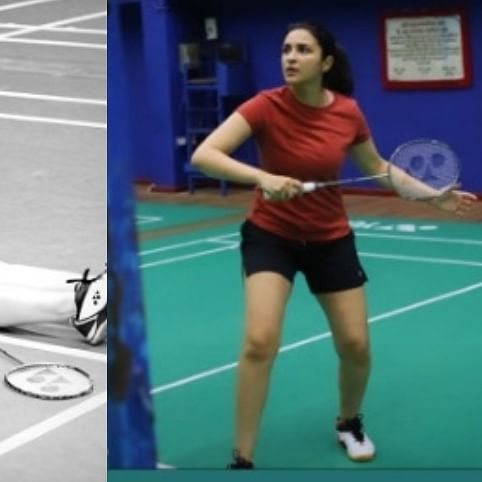 Parineeti Chopra documents her badminton training session post-injury