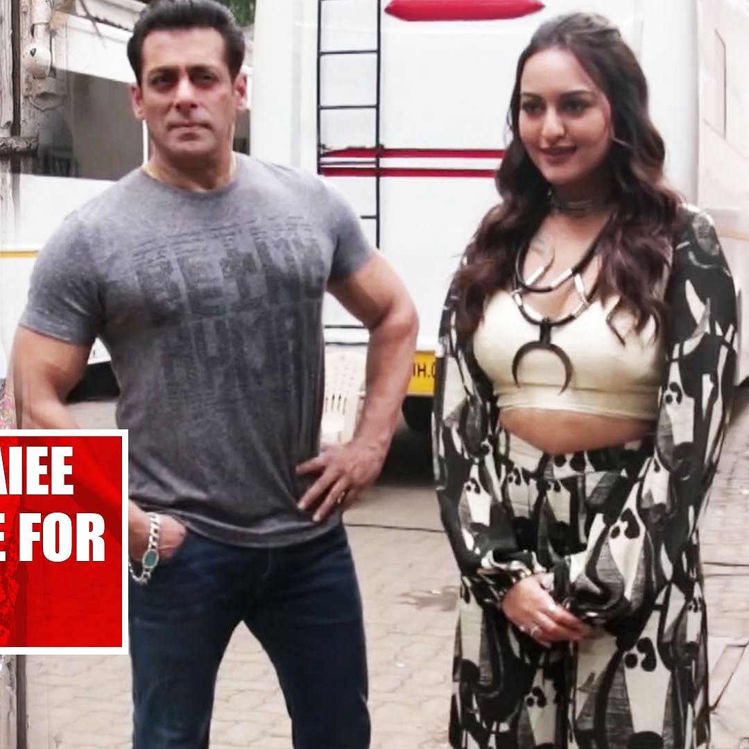 Salman Khan, Sonakshi Sinha, Saiee Manjrekar on promotional spree for 'Dabangg 3'