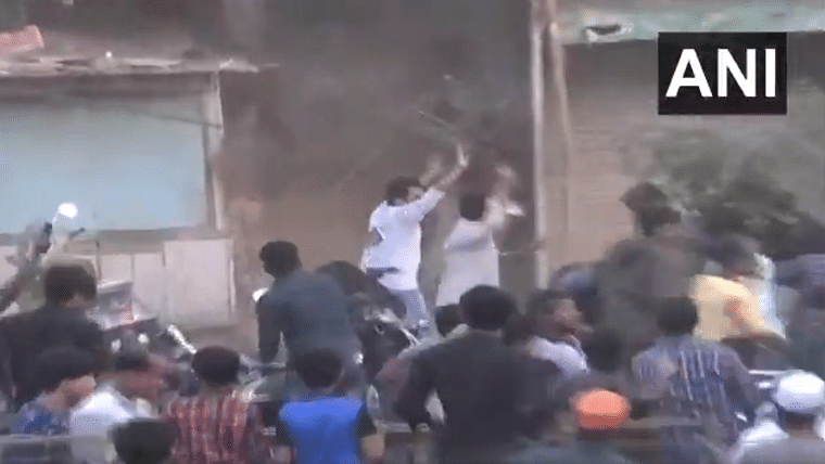 'Peaceful protesters lynching a cop': Twitter shocked by mob attack on police officers in Ahmedabad
