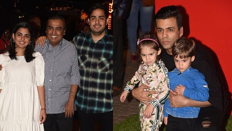 Shah Rukh Khan, Karan Johar arrive with their kids at Ambani's JioWonderland
