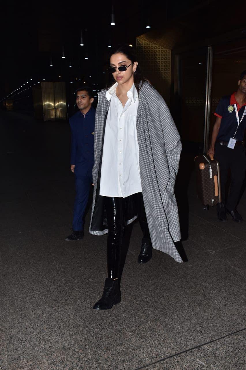 Hey Deepika Padukone, what's with the jumbo jacket in Mumbai's weather