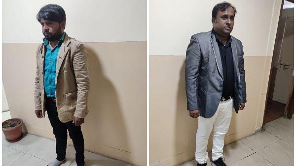 Vijay Masih (L) and (R) Md Abutalif Mansuri