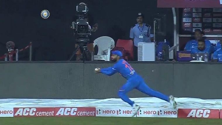 Watch: Kohli screamer lights up gloomy day for Indian fielders