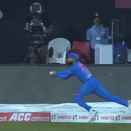 Watch: Kohli screamer lights up gloomy day for Indian fielders