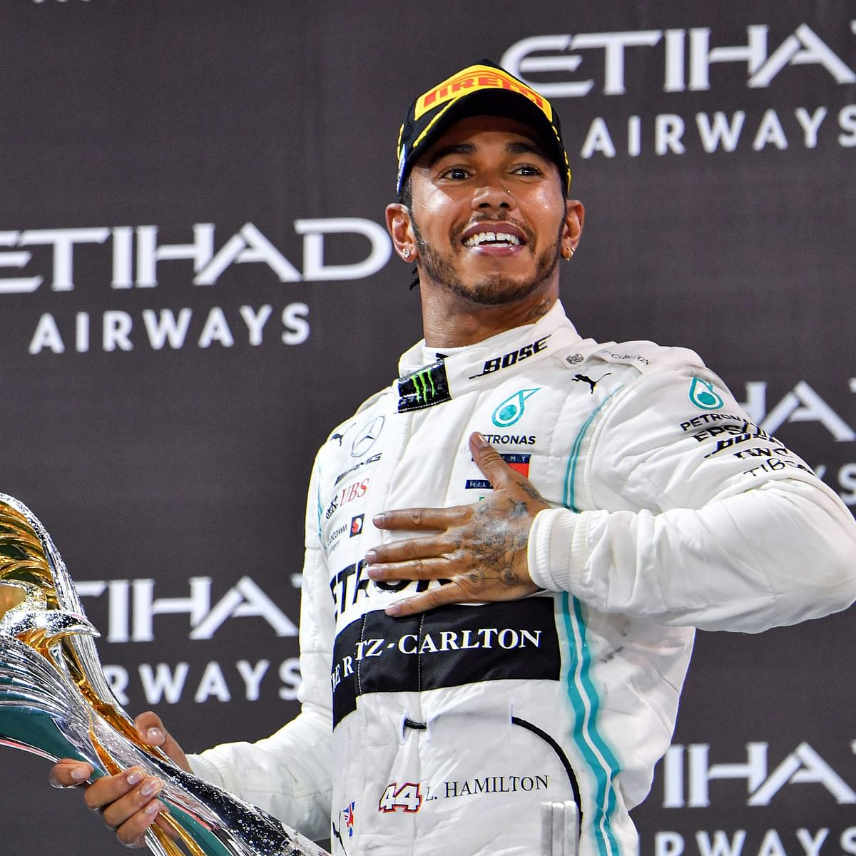 Lewis Hamilton claims record 156th podium finish with win at Spanish Grand Prix