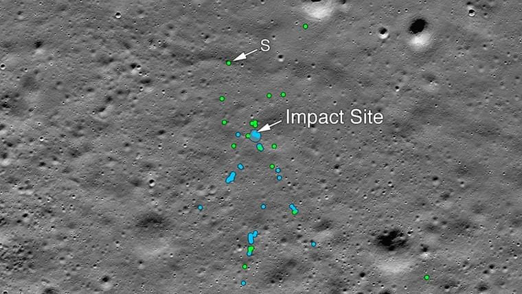 NASA finds Chandrayaan 2's Vikram lander crash site, releases images of impact site on moon surface