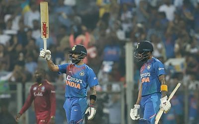 India sets 240/3 after top-order explodes with the bat