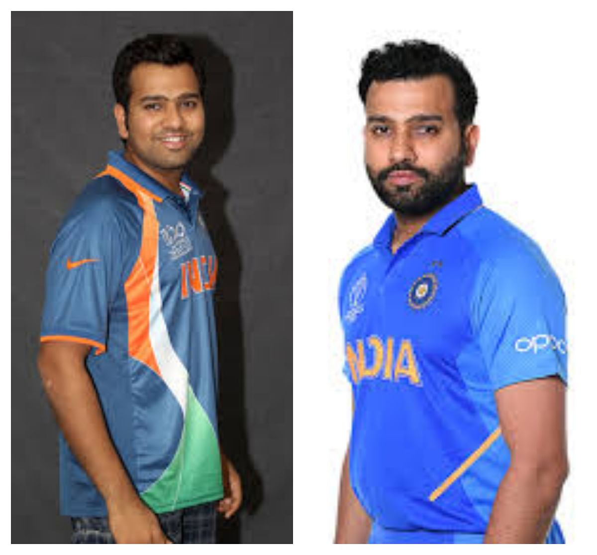 Rohit Sharma then vs now