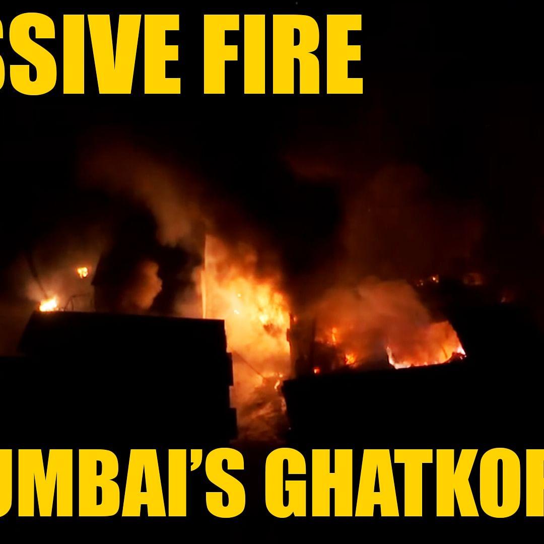 Massive fire breaks out in Mumbai's Ghatkopar