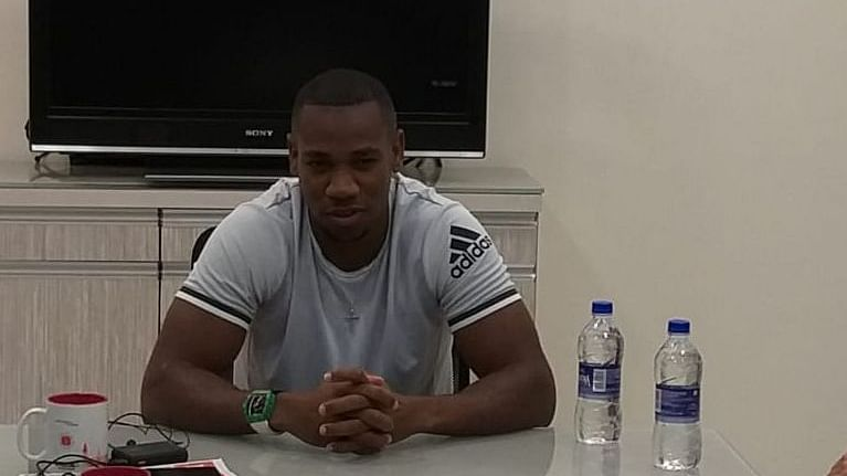 Yohan Blake at the FPJ office
