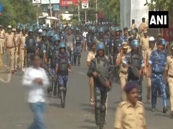 Karnataka: Security forces hold march in Kalaburagi to instill confidence in people