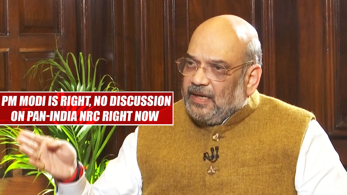 PM Modi is right, no discussion on pan-India NRC right now: Amit Shah