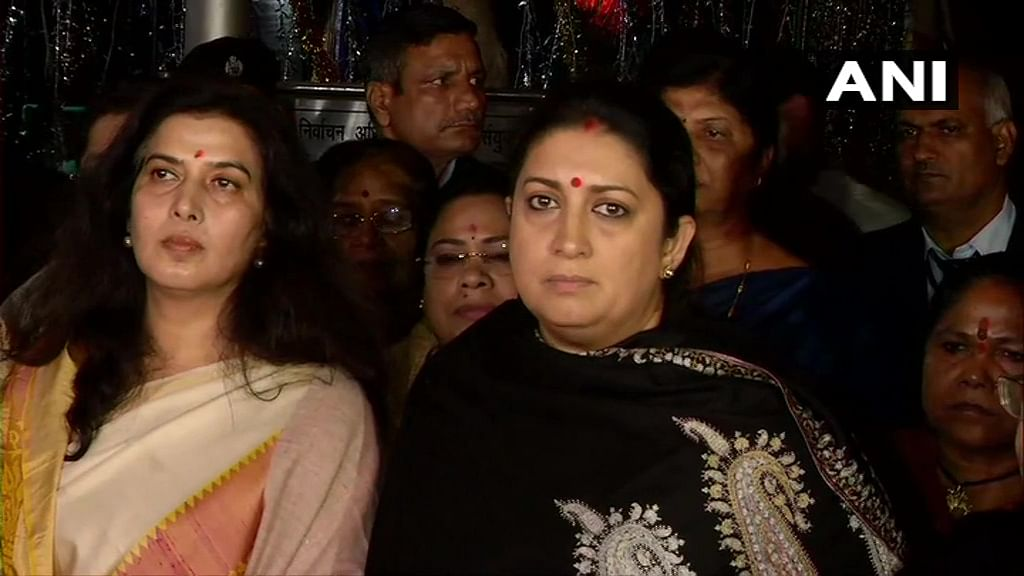 Irani and other women BJP MPs complain to EC, accuse Rahul of using 'rape as a political weapon'