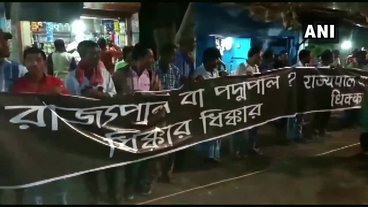 West Bengal Guv shown black flags