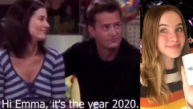 Friends: Ross and Rachel's baby Emma reacts to waking up from her nap in 2020