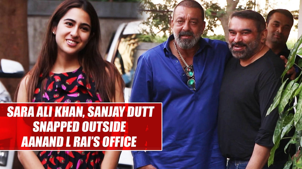 Sara Ali Khan, Sanjay Dutt snapped outside Aanand L Rai's office in Mumbai