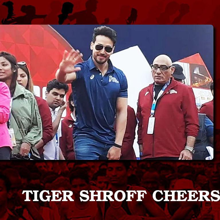 Watch: Tiger Shroff cheers runners at Mumbai Marathon 2020