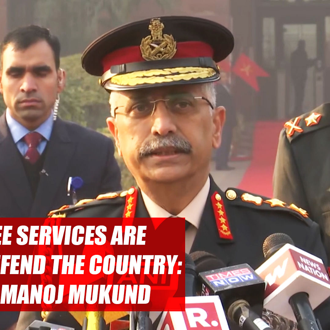 All three services are ready to defend the country:  Army Chief