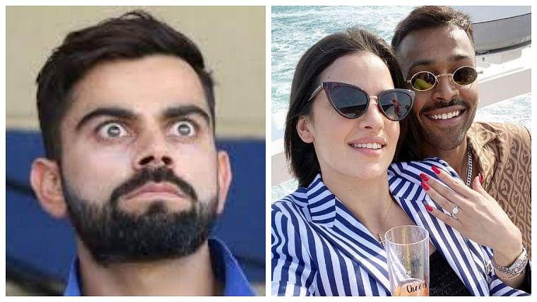 Check out Virat Kohli's epic reaction on teammate Hardik Pandya's engagement