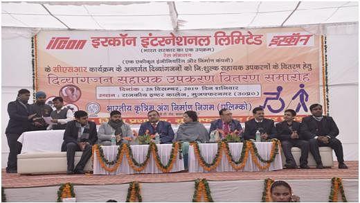 IRCON distributes aids and appliances to Divyangs at Muzaffarnagar