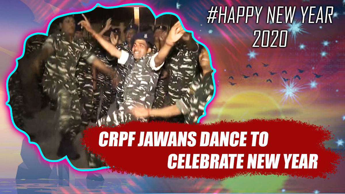 Watch: CRPF jawans dance to celebrate New Year in Raipur