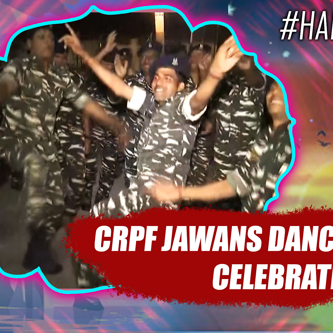 Watch: CRPF jawans dance to celebrate New Year in Raipur