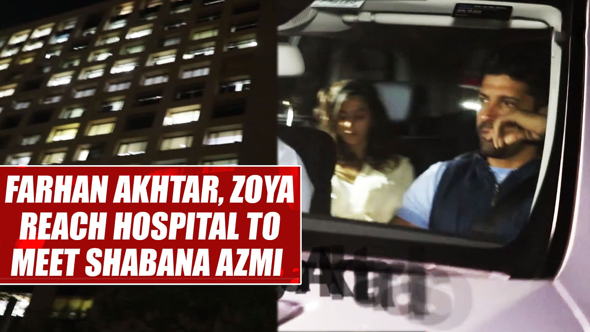 Farhan Akhtar, Zoya reach hospital to meet Shabana Azmi