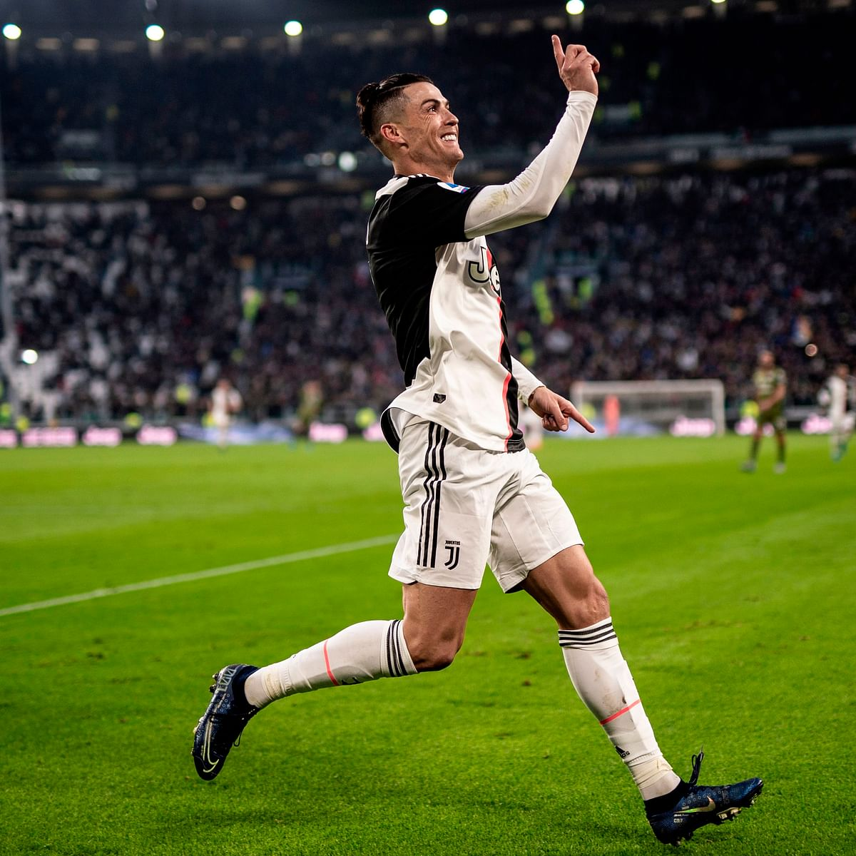 Cristiano Ronaldo becomes first player to score 50 goals in Serie A, Premier League and La Liga