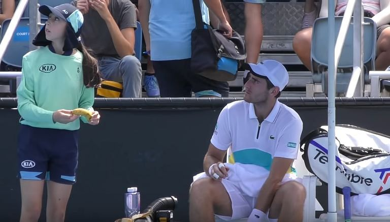 Elliot Benchetrit asks ball-girl to 'peel his banana' during Australia Open qualifier; gets scolded by umpire