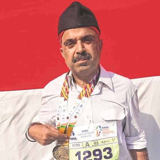 RSS makes its debut in marathon; Hindutva on the run
