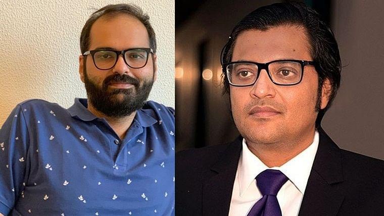 'Arnab Maunswami': Twitter divided as Kunal Kamra heckles Arnab Goswami on a flight